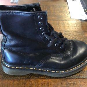 Dr. Martens Shoes - Dr Martens Leather Combat Boots